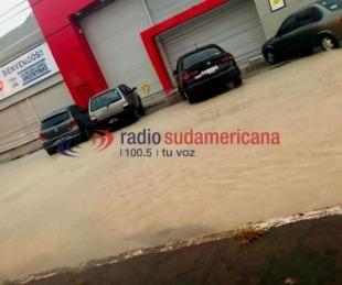foto: La Ciudad quedó colapsada tras la caída de 80 milímetros en una hora