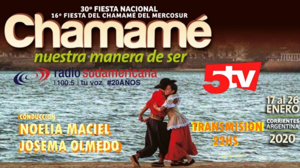 Viví la 30º FNCH por Canal 5Tv, radio Sudamericana y la página web
