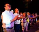 Junto a miles de vecinos, Tassano disfrutó de la apertura de la Fiesta