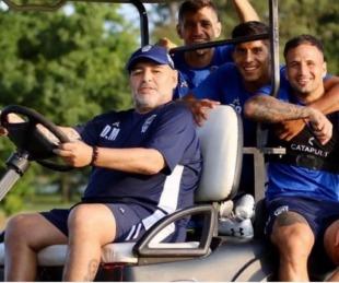 foto: Maradona viajó a Venezuela a días de la reanudación de la Superliga