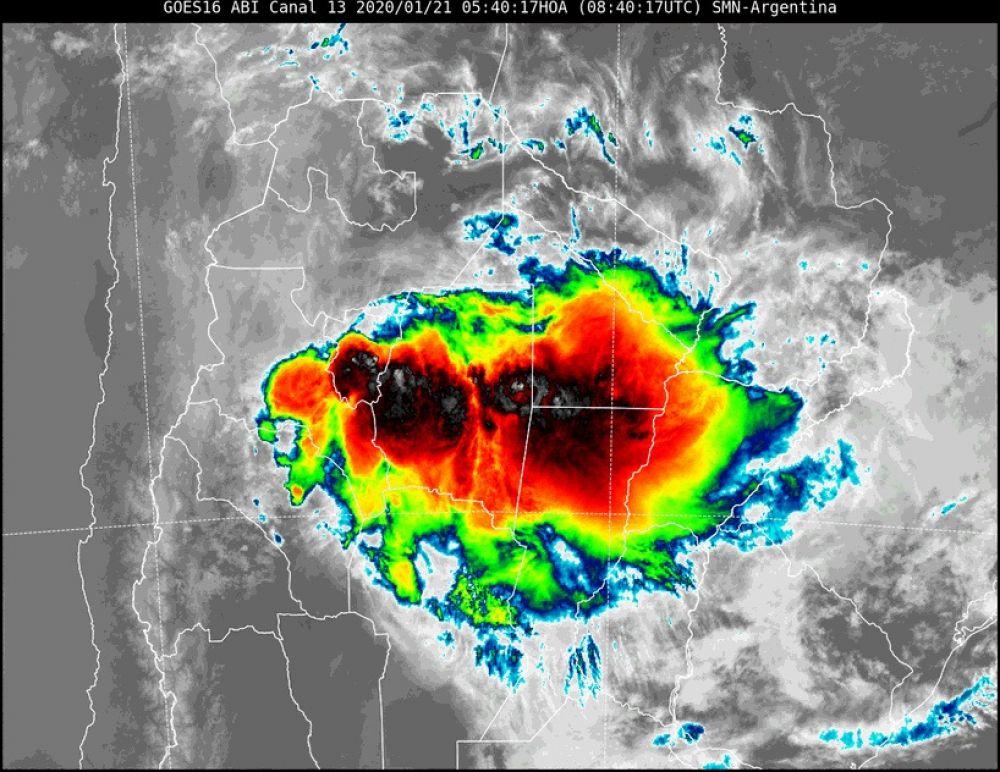 foto: Continúa vigente el alerta por tormentas fuertes para Corrientes