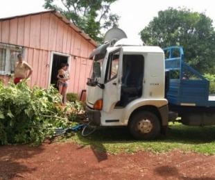 foto: Camión estacionado quedó sin frenos y atropelló a un niño