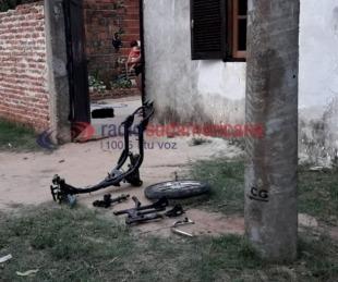 foto: Buscaban una moto robada y la hallaron totalmente desarmada