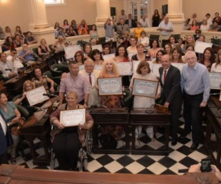 foto: El Senado homenajeó a las Mujeres del chamamé