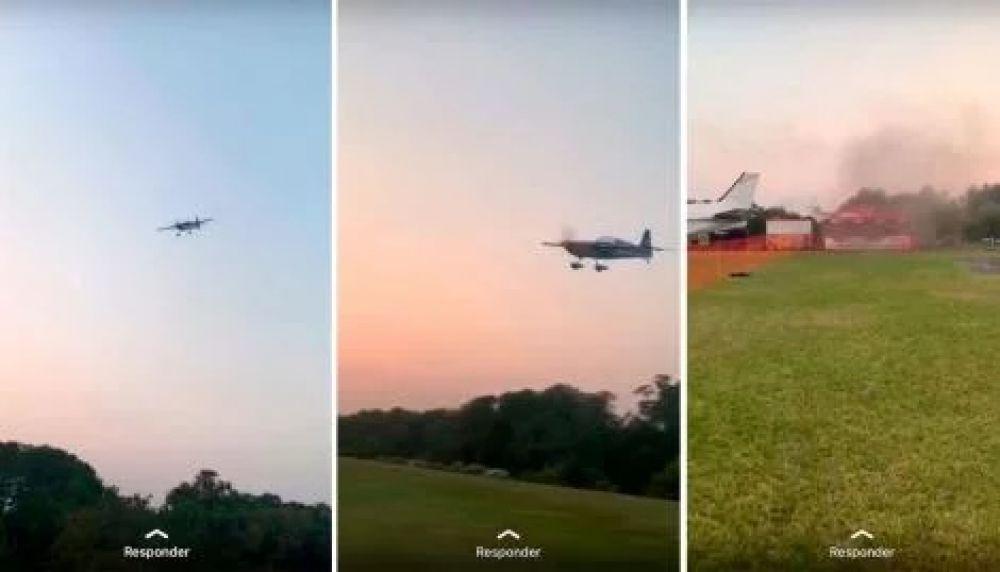 foto: Falló una prueba acrobática y cayó una avioneta: hay tres muertos