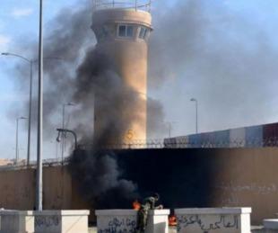 foto: Atacaron con cohetes la embajada de Estados Unidos en Badgad
