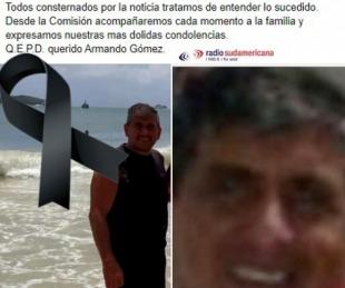 foto: Despedida en las redes sociales al abogado que murió en Brasil