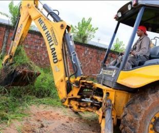 foto: Realizaron trabajos de desobstrucción y limpieza de desagües