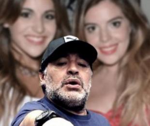 foto: Dalma y Gianinna, fuerte contra el entorno de Diego Maradona