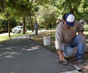 foto: Avanzan las obras en plazas de varios barrios de la ciudad
