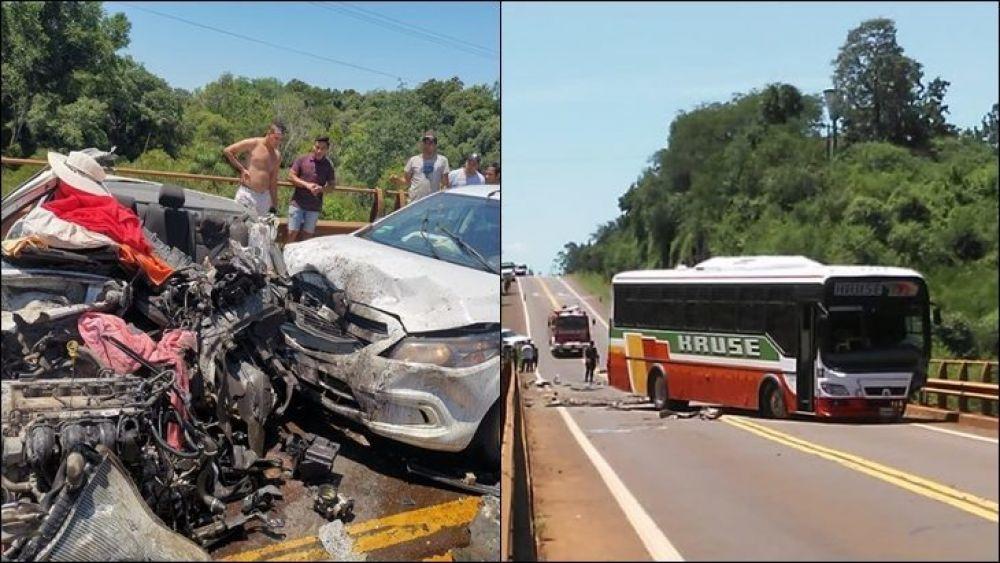 foto: Misiones:  trágico accidente sobre Ruta Nacional 12 deja tres muertos