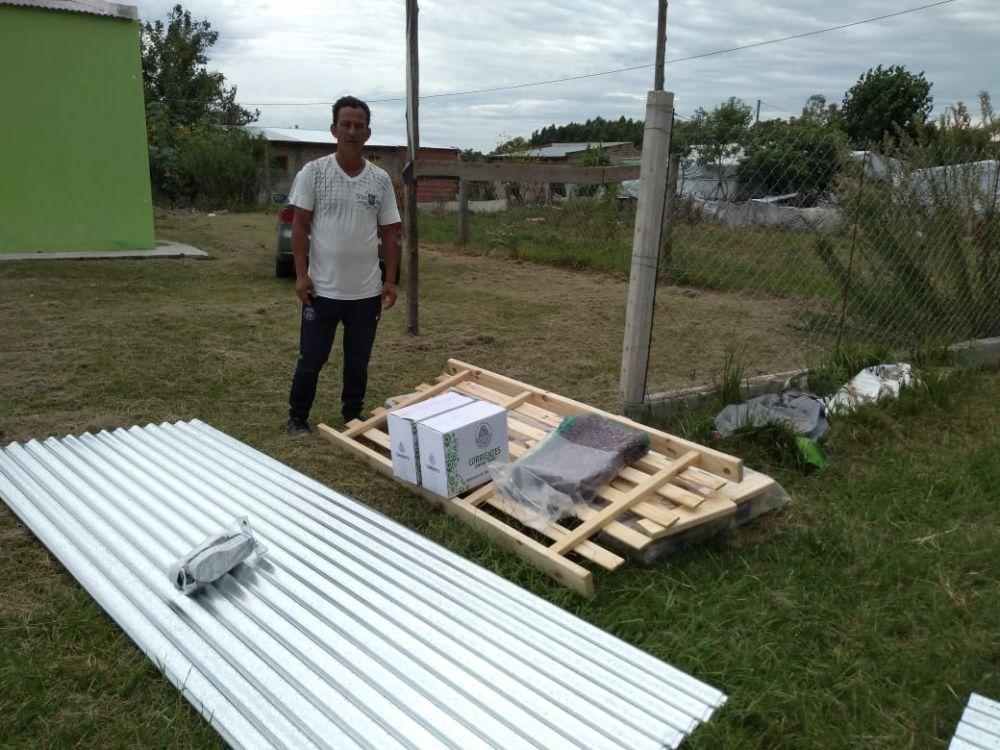 foto: Familias recibieron asistencia a raíz del temporal