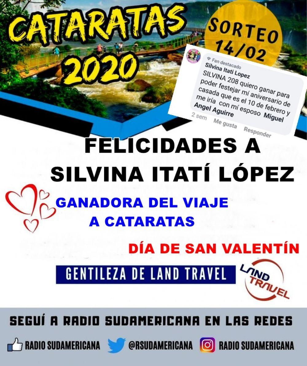 foto: Silvina López ganó el viaje para dos personas a Cataratas del Iguazú