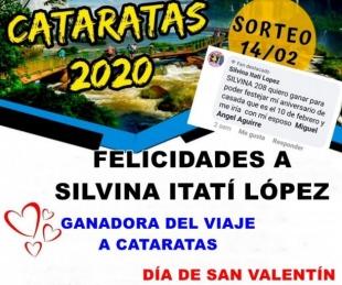 Silvina López ganó el viaje para dos personas a Cataratas del Iguazú