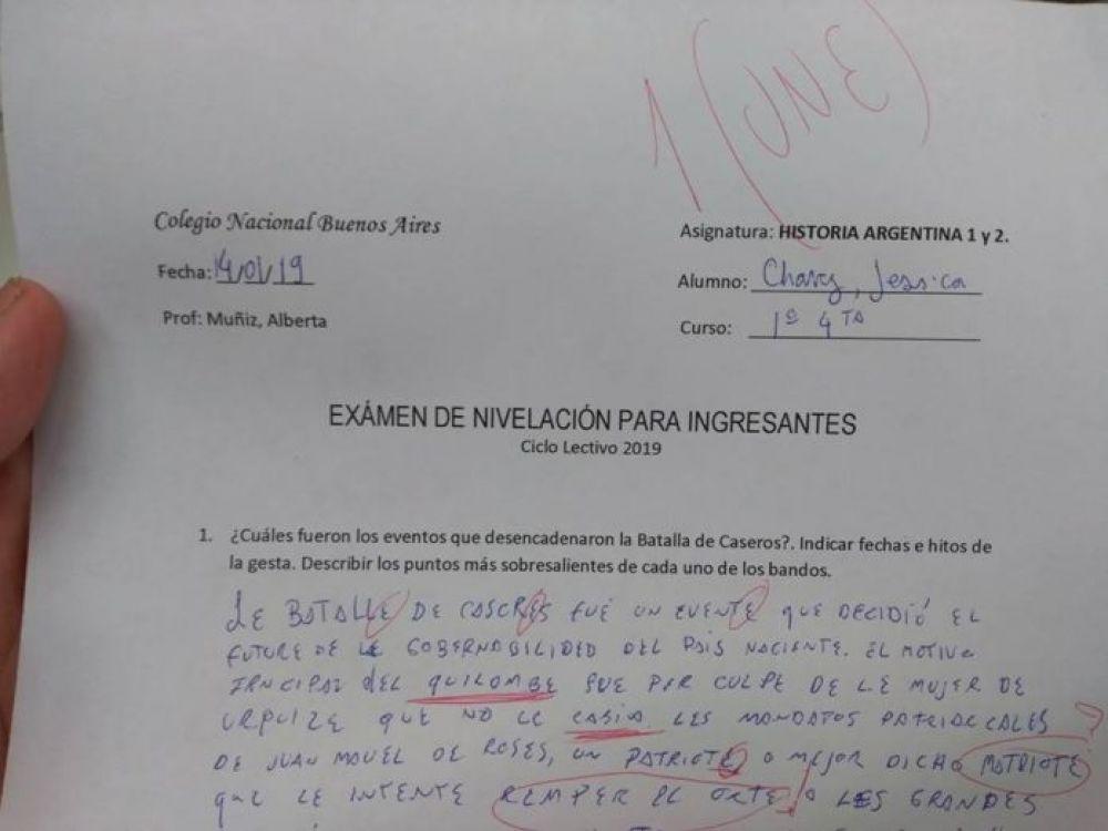 foto: Hizo el examen con lenguaje inclusivo: le pusieron un une