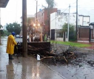 foto: Operarios municipales trabajan en la desobstrucción de desagües