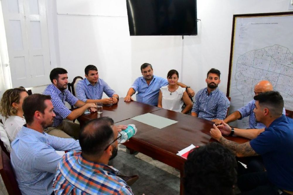 foto: El Municipio se reunió con comerciantes de la Avenida Centenario