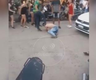 foto: Chaco: En una pelea callejera, recibió brutal patada en el rostro