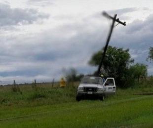 foto: Varias localidades quedaron sin luz por las fuertes tormentas