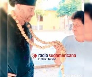 foto: Ex Masterchef recorre Corrientes y recibió un Rosario de chipá