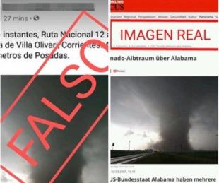 foto: Desmienten publicaciones sobre un tornado en Villa Olivari