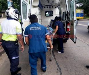 foto: Agente de tránsito fue colisionada por una Unidad de Traslado