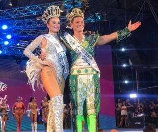foto: Malena Cueba y Ricardo Zschach  son los Embajadores del Carnaval