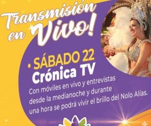 foto: Este fin de semana habrá televisación en Vivo del Carnaval