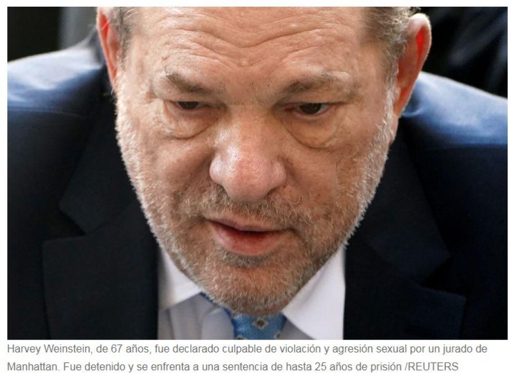 foto: Harvey Weinstein fue declarado culpable de abuso sexual y violación