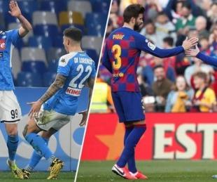 foto: Barcelona visita al Nápoli por los octavos de la Champions League