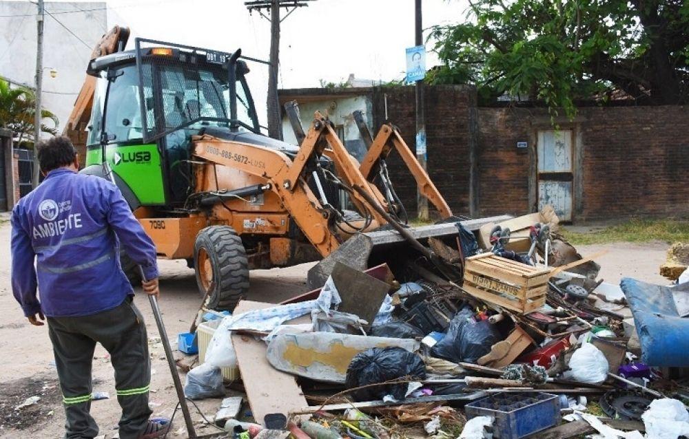 foto: La Municipalidad realizará tareas de descacharrado en el barrio Molina