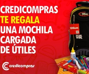 foto: Sudamericana y Credicompras sortean una mochila con útiles