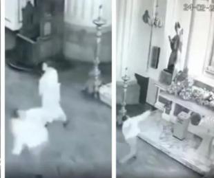 foto: Le tiró piedras a la virgen porque no le cumplió un milagro