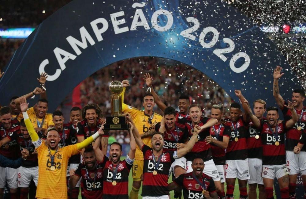 foto: Tras golear a Independiente, Flamengo dio otra vuelta olímpica