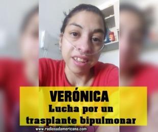foto: Verónica lucha por su vida y necesita un trasplante bipulmonar