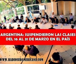 foto: Anunciaron la suspensión de las clases y el cierre de las fronteras