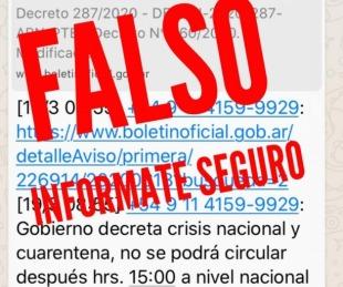 foto: Coronavirus: El FALSO decreto presidencial sobre cuarentena