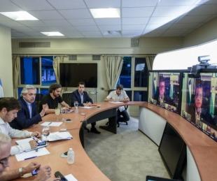 foto: El Presidente mantiene una videoconferencia con los gobernadores
