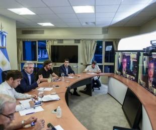 foto: El Presidente recibió apoyo de gobernadores por videoconferencia