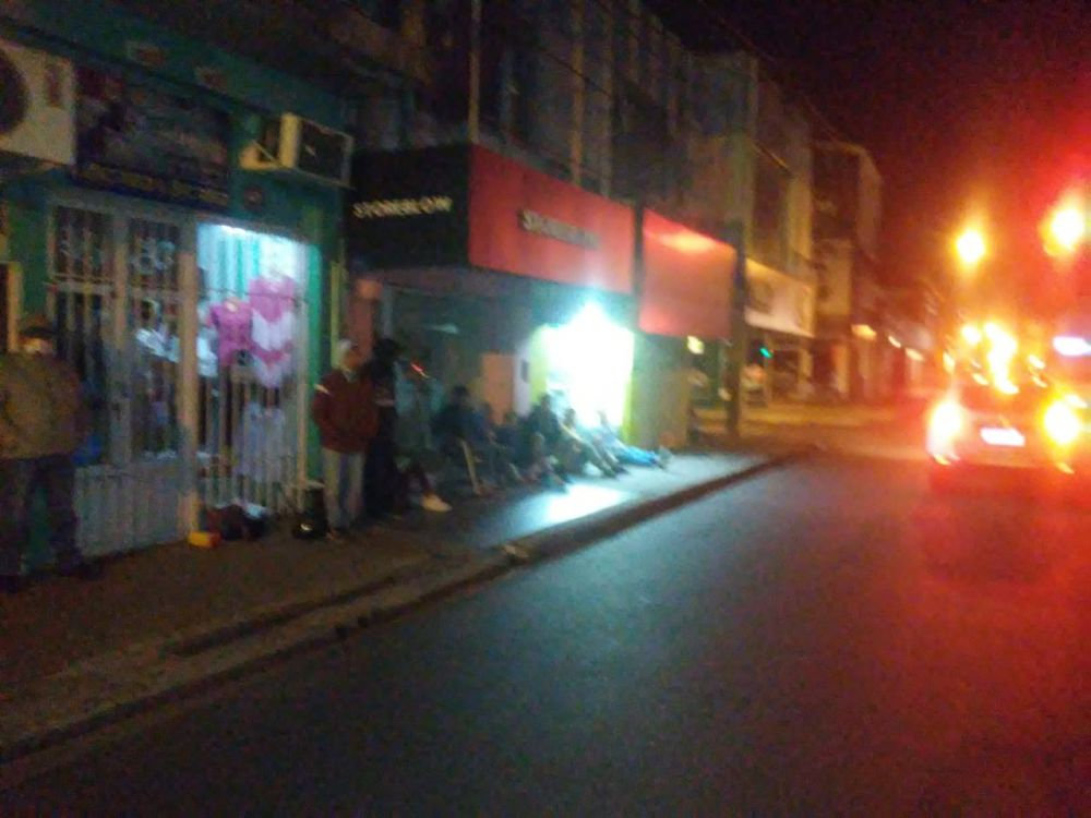 foto: Recién hicimos un barrido y sacamos gente de la zona de los bancos