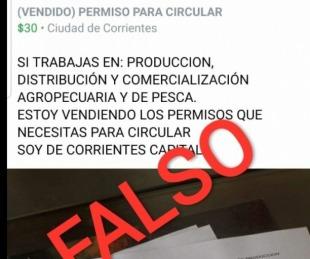 foto: Redes sociales: Venden permisos falsos para poder circular