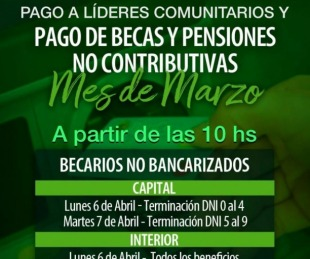 foto: Inicia el pago de becas, pensiones y líderes no bancarizados