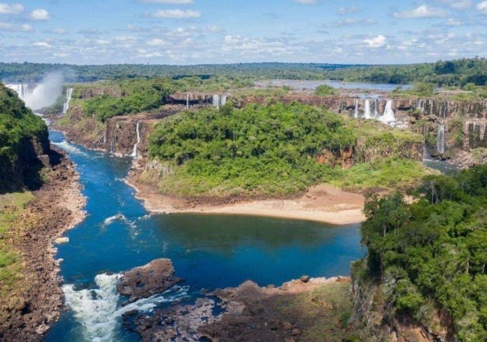 Cataratas del Iguazú desoladas: tiempo de sequía y pandemia