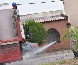 foto: San Marcos: desinfección y trabajo multidisciplinario junto a la Provi