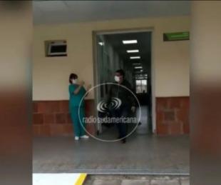 Video: dieron de alta al único paciente internado con Coronavirus