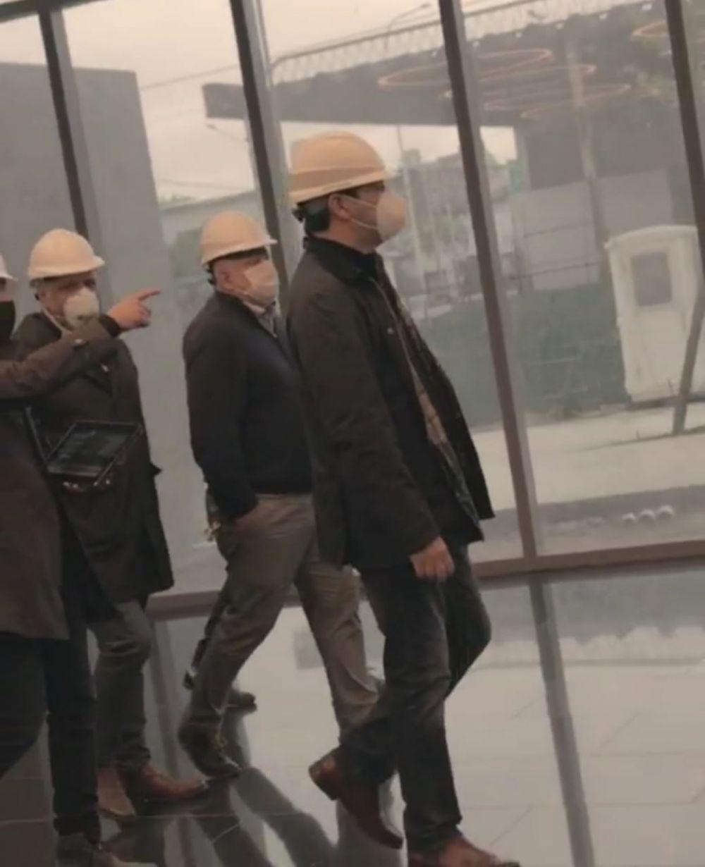Valdés visitó las obras del Centro Administrativo y destacó su avance