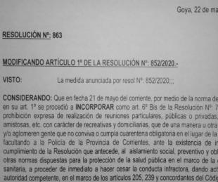 foto: Goya no permite reuniones de más de 10 personas
