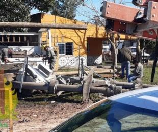 foto: Temporal con fuertes vientos derribó postes, árboles y cortes de luz