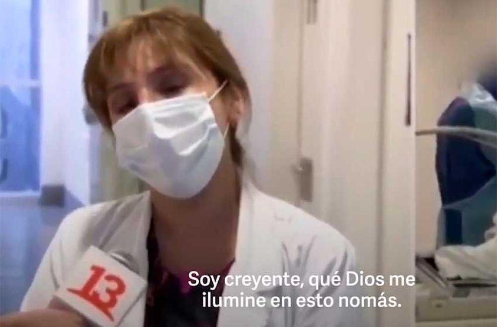 foto: Drama en Chile por la pandemia: Estoy eligiendo, que Dios me ilumine