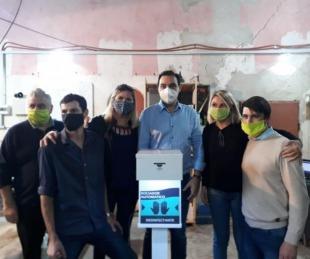foto: Valdés encargó 100 atomizadores desinfectantes automáticos